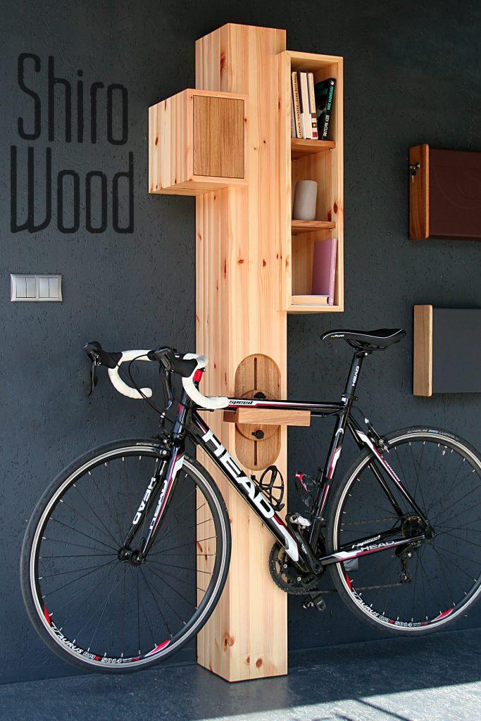 Sloupový cyklonosič Shiro Wood pro silniční kola